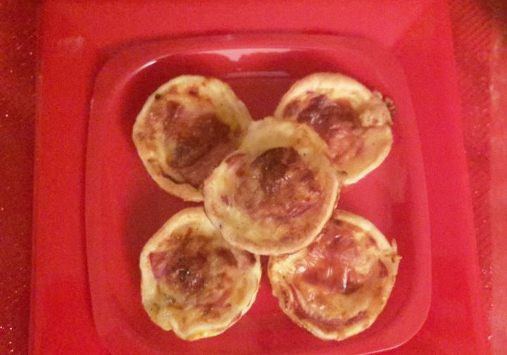 Mini quiches bacon, raclette