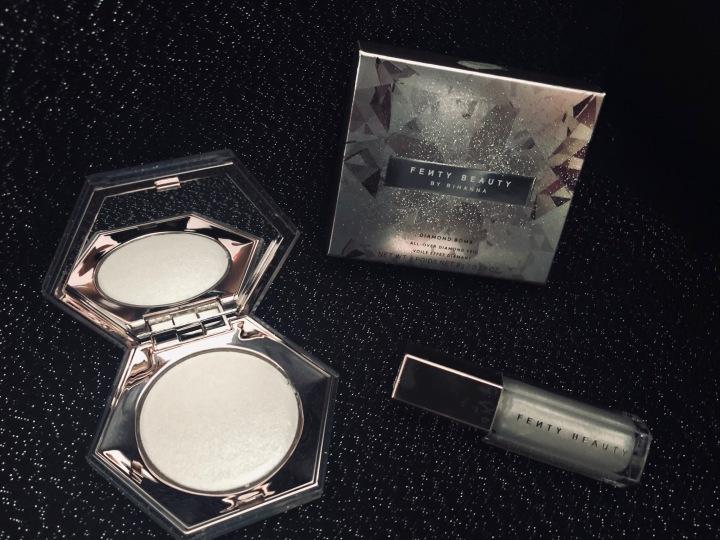 Mon coup de cœur en cette fin d'année 2018 : Diamond bomb All-over diamond veil et le Gloss bomb universal lip luminizer de chez FentyBeauty