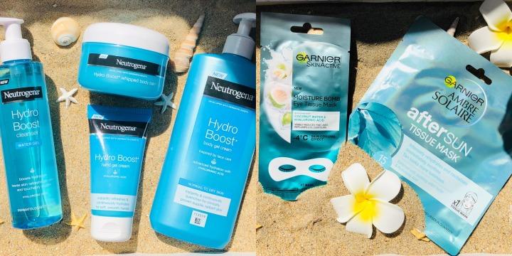 My summer Essentials la gamme Hydro Boost de Neutrogena et le masque After Sun de chezGarnier